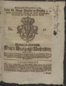 Wochentlich-Stettinische Frag- und Anzeigungs-Nachrichten. 1760 No. 41