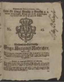 Wochentlich-Stettinische Frag- und Anzeigungs-Nachrichten. 1760 No. 43