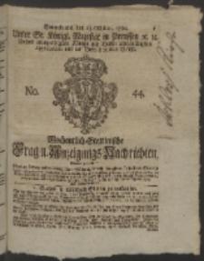 Wochentlich-Stettinische Frag- und Anzeigungs-Nachrichten. 1760 No. 44
