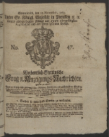 Wochentlich-Stettinische Frag- und Anzeigungs-Nachrichten. 1760 No. 47