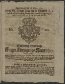 Wochentlich-Stettinische Frag- und Anzeigungs-Nachrichten. 1761 No. 20 + Anhang