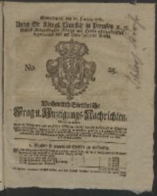 Wochentlich-Stettinische Frag- und Anzeigungs-Nachrichten. 1761 No. 25 + Anhang