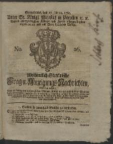 Wochentlich-Stettinische Frag- und Anzeigungs-Nachrichten. 1761 No. 26 + Anhang