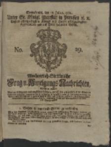 Wochentlich-Stettinische Frag- und Anzeigungs-Nachrichten. 1761 No. 29 + Anhang