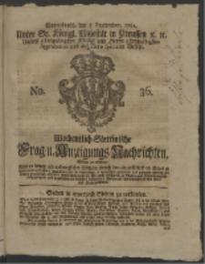 Wochentlich-Stettinische Frag- und Anzeigungs-Nachrichten. 1761 No. 36