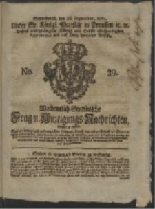 Wochentlich-Stettinische Frag- und Anzeigungs-Nachrichten. 1761 No. 39 + Anhang