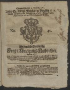 Wochentlich-Stettinische Frag- und Anzeigungs-Nachrichten. 1761 No. 40 + Anhang