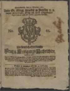 Wochentlich-Stettinische Frag- und Anzeigungs-Nachrichten. 1761 No. 44