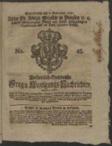 Wochentlich-Stettinische Frag- und Anzeigungs-Nachrichten. 1761 No. 45