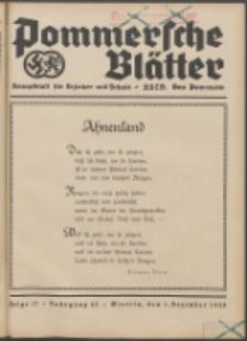 Pommersche Blätter : Kampfblatt für Erzieher und Schule. Jg. 63, 1938 Folge 17