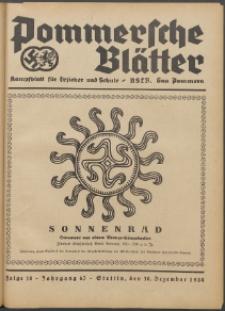 Pommersche Blätter : Kampfblatt für Erzieher und Schule. Jg.63, 1938 Folge 18
