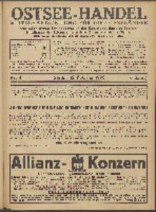 Ostsee-Handel : Wirtschaftszeitschrift für der Wirtschaftsgebiet des Gaues Pommern und der Ostsee und Südostländer. Jg. 6, 1926 Nr. 4