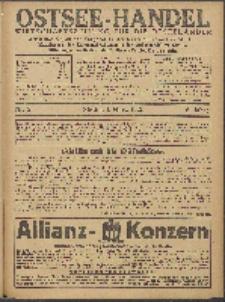 Ostsee-Handel : Wirtschaftszeitschrift für der Wirtschaftsgebiet des Gaues Pommern und der Ostsee und Südostländer. Jg. 6, 1926 Nr. 5