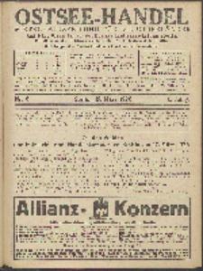Ostsee-Handel : Wirtschaftszeitschrift für der Wirtschaftsgebiet des Gaues Pommern und der Ostsee und Südostländer. Jg. 6, 1926 Nr. 6