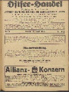 Ostsee-Handel : Wirtschaftszeitschrift für der Wirtschaftsgebiet des Gaues Pommern und der Ostsee und Südostländer. Jg. 6, 1926 Nr. 8