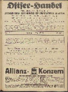 Ostsee-Handel : Wirtschaftszeitschrift für der Wirtschaftsgebiet des Gaues Pommern und der Ostsee und Südostländer. Jg. 6, 1926 Nr. 9