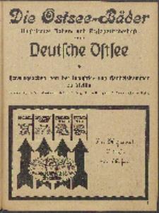 Ostsee-Handel : Wirtschaftszeitschrift für der Wirtschaftsgebiet des Gaues Pommern und der Ostsee und Südostländer. Jg. 6, 1926 dod. Ostsee-Bäder