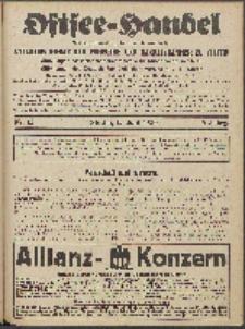 Ostsee-Handel : Wirtschaftszeitschrift für der Wirtschaftsgebiet des Gaues Pommern und der Ostsee und Südostländer. Jg. 6, 1926 Nr. 12