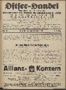 Ostsee-Handel : Wirtschaftszeitschrift für der Wirtschaftsgebiet des Gaues Pommern und der Ostsee und Südostländer. Jg. 6, 1926 Nr. 18