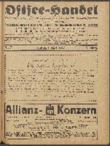 Ostsee-Handel : Wirtschaftszeitschrift für der Wirtschaftsgebiet des Gaues Pommern und der Ostsee und Südostländer. Jg. 7, 1927 Nr. 7