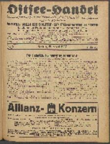 Ostsee-Handel : Wirtschaftszeitschrift für der Wirtschaftsgebiet des Gaues Pommern und der Ostsee und Südostländer. Jg. 7, 1927 Nr. 8