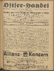 Ostsee-Handel : Wirtschaftszeitschrift für der Wirtschaftsgebiet des Gaues Pommern und der Ostsee und Südostländer. Jg. 7, 1927 Nr. 11