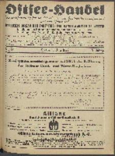Ostsee-Handel : Wirtschaftszeitschrift für der Wirtschaftsgebiet des Gaues Pommern und der Ostsee und Südostländer. Jg. 7, 1927 Nr. 13