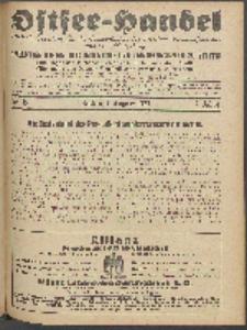 Ostsee-Handel : Wirtschaftszeitschrift für der Wirtschaftsgebiet des Gaues Pommern und der Ostsee und Südostländer. Jg. 7, 1927 Nr. 15