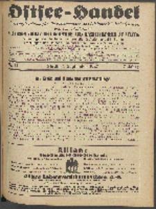 Ostsee-Handel : Wirtschaftszeitschrift für der Wirtschaftsgebiet des Gaues Pommern und der Ostsee und Südostländer. Jg. 7, 1927 Nr. 17