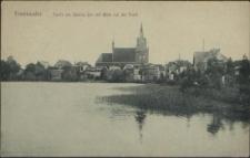 Freienwalde, Partie am Staritz-See mit Blick auf die Stadt