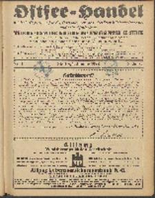 Ostsee-Handel : Wirtschaftszeitschrift für der Wirtschaftsgebiet des Gaues Pommern und der Ostsee und Südostländer. Jg. 8, 1928 Nr. 1