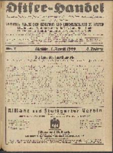 Ostsee-Handel : Wirtschaftszeitschrift für der Wirtschaftsgebiet des Gaues Pommern und der Ostsee und Südostländer. Jg. 8, 1928 Nr. 7
