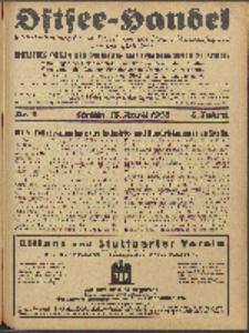 Ostsee-Handel : Wirtschaftszeitschrift für der Wirtschaftsgebiet des Gaues Pommern und der Ostsee und Südostländer. Jg. 8, 1928 Nr. 8
