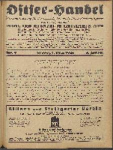 Ostsee-Handel : Wirtschaftszeitschrift für der Wirtschaftsgebiet des Gaues Pommern und der Ostsee und Südostländer. Jg. 8, 1928 Nr. 9
