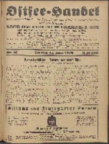 Ostsee-Handel : Wirtschaftszeitschrift für der Wirtschaftsgebiet des Gaues Pommern und der Ostsee und Südostländer. Jg. 8, 1928 Nr. 10