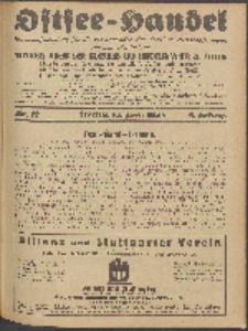 Ostsee-Handel : Wirtschaftszeitschrift für der Wirtschaftsgebiet des Gaues Pommern und der Ostsee und Südostländer. Jg. 8, 1928 Nr. 12
