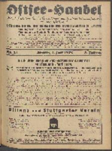 Ostsee-Handel : Wirtschaftszeitschrift für der Wirtschaftsgebiet des Gaues Pommern und der Ostsee und Südostländer. Jg. 8, 1928 Nr. 13