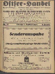 Ostsee-Handel : Wirtschaftszeitschrift für der Wirtschaftsgebiet des Gaues Pommern und der Ostsee und Südostländer. Jg. 8, 1928 Nr. 15