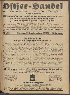 Ostsee-Handel : Wirtschaftszeitschrift für der Wirtschaftsgebiet des Gaues Pommern und der Ostsee und Südostländer. Jg. 8, 1928 Nr. 17