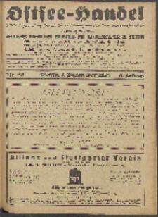Ostsee-Handel : Wirtschaftszeitschrift für der Wirtschaftsgebiet des Gaues Pommern und der Ostsee und Südostländer. Jg. 8, 1928 Nr. 23