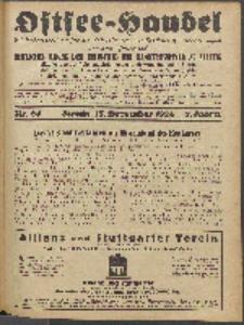 Ostsee-Handel : Wirtschaftszeitschrift für der Wirtschaftsgebiet des Gaues Pommern und der Ostsee und Südostländer. Jg. 8, 1928 Nr. 24
