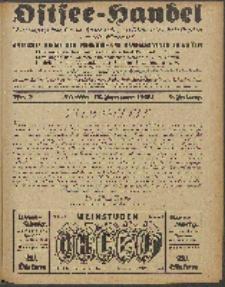 Ostsee-Handel : Wirtschaftszeitschrift für der Wirtschaftsgebiet des Gaues Pommern und der Ostsee und Südostländer. Jg. 9, 1929 Nr.2