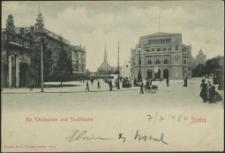Am Königsplatz und Stadttheater, Stettin