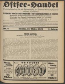 Ostsee-Handel : Wirtschaftszeitschrift für der Wirtschaftsgebiet des Gaues Pommern und der Ostsee und Südostländer. Jg. 9, 1929 Nr. 6
