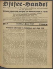 Ostsee-Handel : Wirtschaftszeitschrift für der Wirtschaftsgebiet des Gaues Pommern und der Ostsee und Südostländer. Jg. 10, 1930 Nr. 11