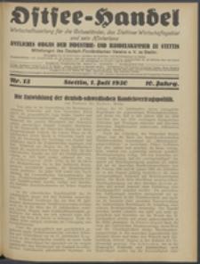 Ostsee-Handel : Wirtschaftszeitschrift für der Wirtschaftsgebiet des Gaues Pommern und der Ostsee und Südostländer. Jg. 10, 1930 Nr. 13