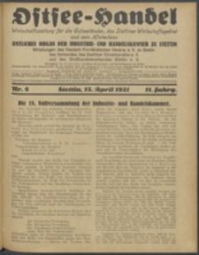 Ostsee-Handel : Wirtschaftszeitschrift für der Wirtschaftsgebiet des Gaues Pommern und der Ostsee und Südostländer. Jg. 11, 1931 Nr. 8