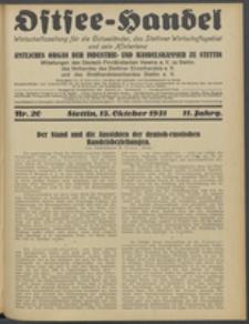 Ostsee-Handel : Wirtschaftszeitschrift für der Wirtschaftsgebiet des Gaues Pommern und der Ostsee und Südostländer. Jg. 11, 1931 Nr. 20