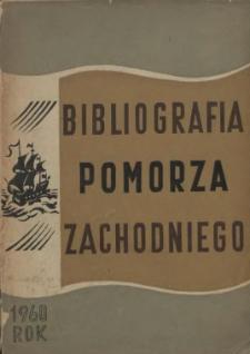 Bibliografia Pomorza Zachodniego. T.4, 1960