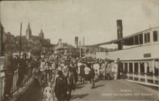 Stettin, Abfahrt des Dampfers nach Gotzlow